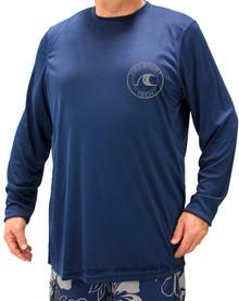 Navy H2O Sport Tech Long Sleeve Swim Shirt
