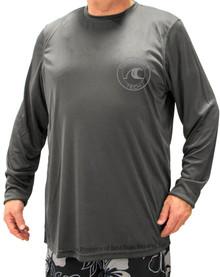 Charcoal H2O Sport Tech Long Sleeve Swim Shirt
