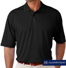Black Harriton Performance Cool Dry Polo
