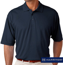 Navy Harriton Performance Cool Dry Polo