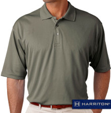 Charcoal Harriton Performance Cool Dry Polo