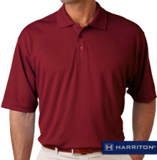 Burgundy Harriton Performance Cool Dry Polo