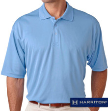 Light blue Harriton Performance Cool Dry Polo
