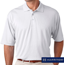 White Harriton Performance Cool Dry Polo