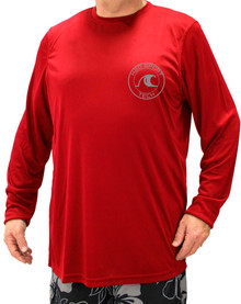 Red H2O Sport Tech Long Sleeve Swim Shirt