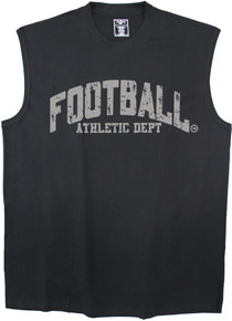 big mens clothing FOOTBALL Black 3XL