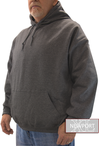 dark gray soft fleece pullover hoodie men's