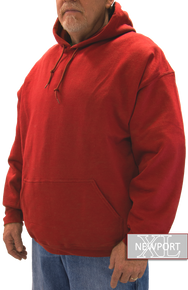red fleece pullover hoodie big and tall