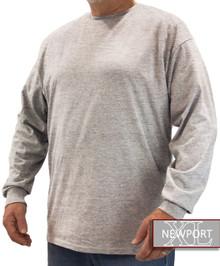 Heather Gray NewportXL LONG SLEEVE T-Shirt