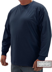 Navy NewportXL LONG SLEEVE T-Shirt