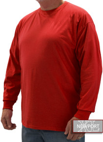 Bright Red NewportXL LONG SLEEVE T-Shirt