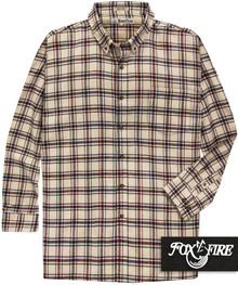 Tan plaid flannel shirt for big and tall