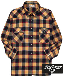 Foxfire WESTERN Flannel Shirt NAVY/Tan