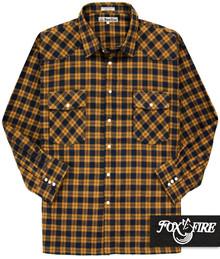 Foxfire WESTERN Flannel Shirt RUST/Navy