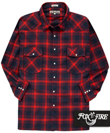Foxfire WESTERN Flannel Shirt RED/Navy