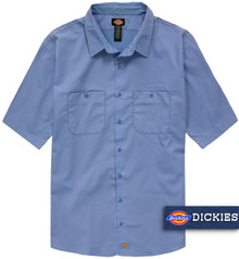 Blue Dickies Lightweight WorkTech Ventilated Shirt