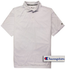 White Champion Performance Polo Shirt
