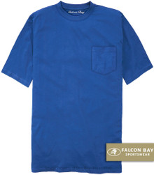 Royal Blue Falcon Bay 100% Cotton Pocket T-Shirt