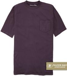 Plum Purple Falcon Bay 100% Cotton Pocket T-Shirt