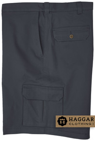 Navy Haggar Cargo Shorts with Expandable Waistband