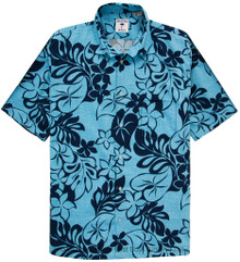 Blue Floral Hawaiian Shirt by Proper Tropics