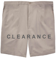 Haggar Flat Front Casual Shorts LIGHT KHAKI