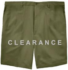 Haggar Flat Front Casual Shorts OLIVE