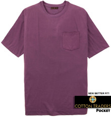 Cotton Traders Premium Pocket T-Shirt - Better Fit PLUM