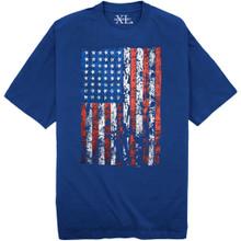 Royal blue NewportXL Printed T-Shirt LARGE AMERICAN FLAG 3XL