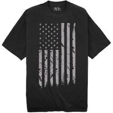 Black NewportX Printed T-Shirt LARGE GRAY FLAG