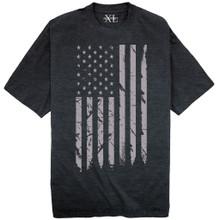NewportX Printed T-Shirt LARGE GRAY FLAG Heather Navy