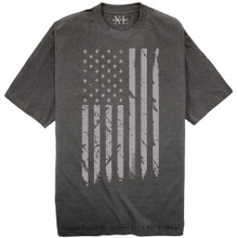 NewportX Printed T-Shirt LARGE GRAY FLAG Charcoal