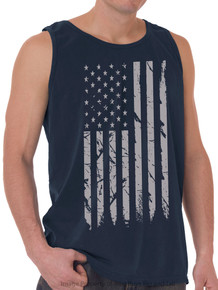 Foxfire GRAY FLAG Printed Tank Top NAVY