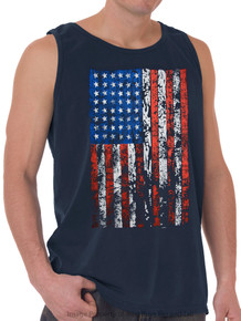 Foxfire LARGE FLAG Printed Tank Top NAVY