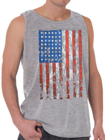 Foxfire LARGE FLAG Printed Tank Top GRAY