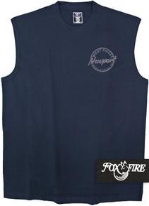 Navy Foxfire Printed Muscle Tee COASTAL