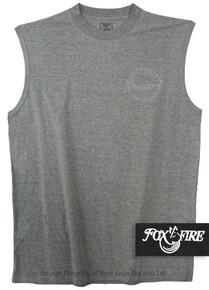Gray Foxfire Printed Muscle Tee COASTAL
