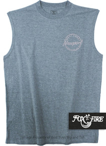 Heather Blue Foxfire Printed Muscle Tee COASTAL