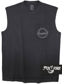 Black Foxfire Coastal Print POCKET Muscle Tee