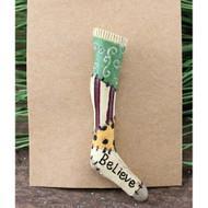 Skinny Stocking Christmas Pin