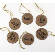Pre-printed Key Tags Family Friends
