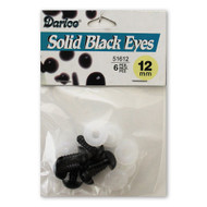 12mm Round Solid Black Eyes and Washers