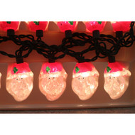 Santa Claus Head String Lights Christmas Holiday Home Decor