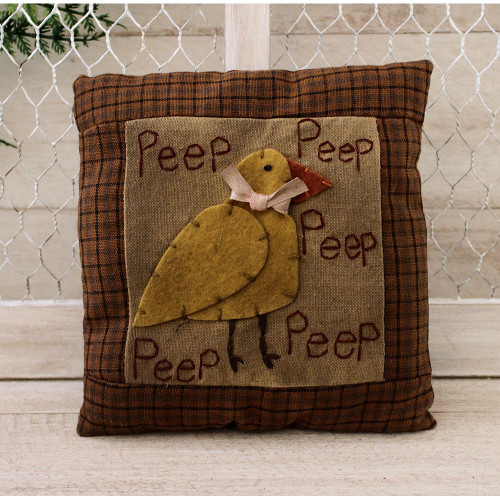 Primitive Chick Peep Mini Easter Spring Pillow