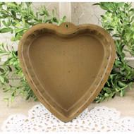 Heart Shaped Mustard Candle Pan