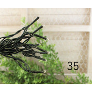 String Lights 35 3mm Seed Bulbs Green Cord
