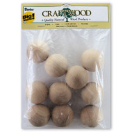1-1/2 Inch Solid Round Wooden Balls Beads