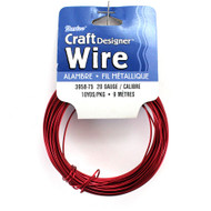 20 Gauge Red Craft Jewelry Wire