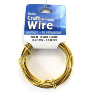 16 Gauge Goldtone Craft Jewelry Wire