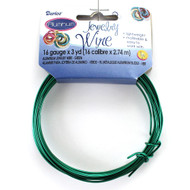 16 Gauge Green Aluminum Craft Jewelry Wire